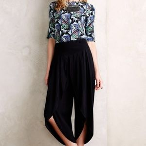 NWT ANTHROPOLOGIE Elevenses Cropped Tulip Trousers